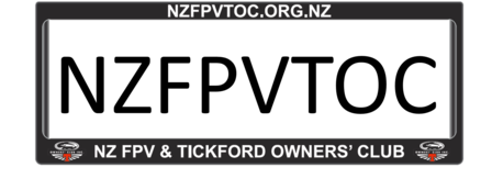 NZFPVTOC Number Plate Surrounds